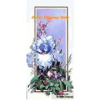 Light Blue Iris & Sweet Pea  - ROR153  -  PRINT
