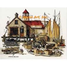Boat Shop  - #NOR23  -  PRINT