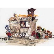 Latte Wagon  - #NOR48  -  PRINT