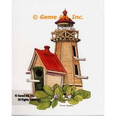 Lighthouse Birdhouse  - #NOR52  -  PRINT