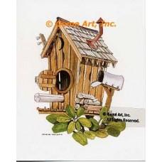 Outhouse Birdhouse  - #NOR53  -  PRINT