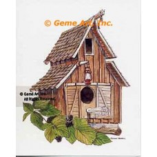 Barn Birdhouse  - #NOR54  -  PRINT