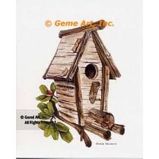 Log Birdhouse  - #NOR55  -  PRINT