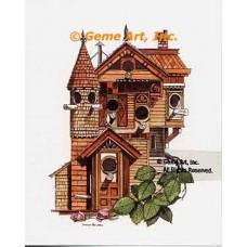 Victorian Birdhouse  - #NOR57  -  PRINT