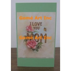 I Love You Mom Note Card  - #CardXS8952  -  NOTE CARD