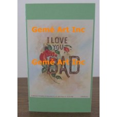 I Love You Dad Note Card  - #CardXS8953  -  NOTE CARD