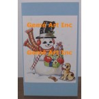 Snowman Note Card  - #CardT875  -  NOTE CARD