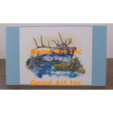 River of Elk Note Card  - #CardLG405  -  NOTE CARD