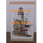 Lighthouse Note Card  - #CardNH17  -  NOTE CARD