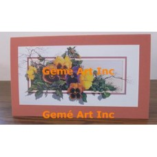 Pansies Note Card  - #CardRQ147-6  -  NOTE CARD