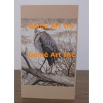 Heron Note Card  - #CardUG11  -  NOTE CARD