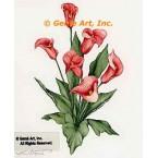 Pink Calla Lilies  - #ZOR800  -  PRINT