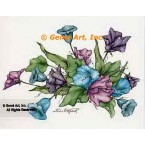 Purple & Blue Flowers  - #ZOR801  -  PRINT