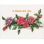 Pink Roses  - #ZOR816  -  PRINT