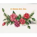 Pink Roses  - #ZOR817  -  PRINT