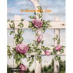 Roses on Fence  - #ZOR832  -  PRINT