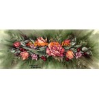 Rose & Berry Garland  - #ZOR841  -  PRINT