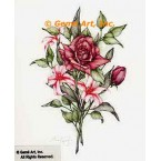 Roses & Lilies  - #ZOR860  -  PRINT