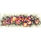 Peaches & lilies Garland  - #ZOR861  -  PRINT