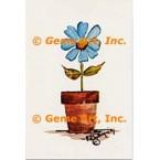 Blue Flower  - #POR119  -  PRINT