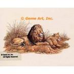 Lions  - #MOR910  -  PRINT