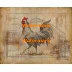 Rustic Fowl II  - #XXKH11241  -  PRINT