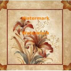 Terracotta Petals II  - #XXKP11156  -  PRINT