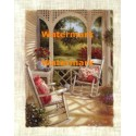 Vivian's Porch I  - #XXKH7633  -  PRINT