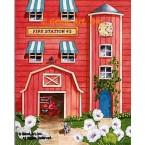 Fire Station #3  - #MOR820  -  PRINT