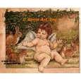 Cherub With Rabbits  - YOR34  -  PRINT