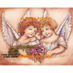 Angels With Lilies  - #YOR39  -  PRINT