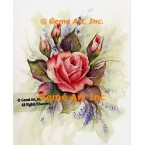 Pink Rose With Buds  - #SOR107  -  PRINT