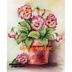 Pansies In A Pot  - #SOR111  -  PRINT