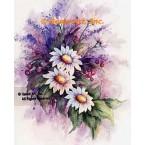 Daisies & Berries  - #SOR115  -  PRINT