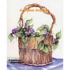 Grapes In A Basket  - #SOR124  -  PRINT