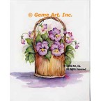 Basket of Pansies  - #SOR125  -  PRINT