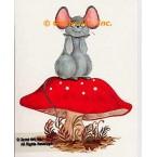 Mouse On Mushroom  - #SOR33  -  PRINT