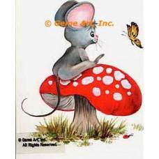 Mouse On Mushroom  - #SOR34  -  PRINT