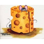 Mouse & Cheese  - #SOR35  -  PRINT