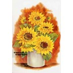 Sunflowers In Container  - #SOR47  -  PRINT