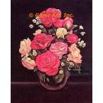 Roses In Vase  - #SOR72  -  PRINT