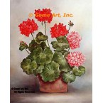 Geraniums In Planter  - #SOR75  -  PRINT