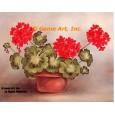 Geraniums In Planter  - #SOR76  -  PRINT