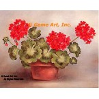 Geraniums In Planter  - #SOR76  -  PRINT