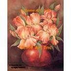 Iris In Vase  - SOR77  -  PRINT