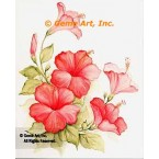 Soft Pink Hibiscus  - #SOR83  -  PRINT