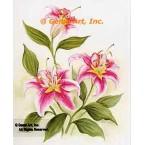 Pink Lilies  - #SOR93  -  PRINT