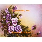 Purple Pansies  - #IOR202  -  PRINT