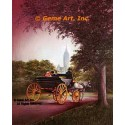 Carriage Ride In Park  - #IOR231  -  PRINT