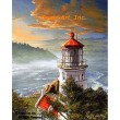 Lighthouse, Heceta Head Oregon  - #IOR239  -  PRINT